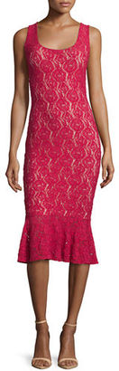 Fuzzi Lace Sleeveless Mermaid Midi Dress $430 thestylecure.com