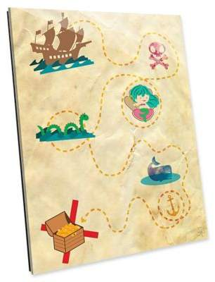 Astra Art Treasure Map 14-Inch x 11-Inch Acrylic Wall Art