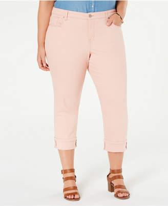 Style&Co. Style & Co Plus Size Curvy Cuffed Capri Jeans