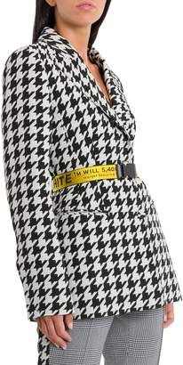 Off-White Off White Houndsthooth Fitted Jacket