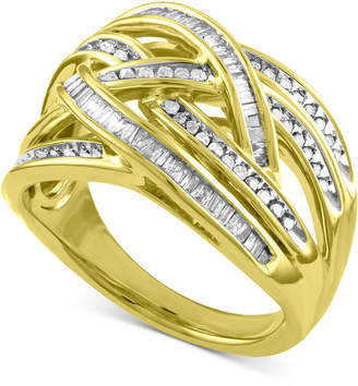 Macy's Diamond Overlap Crisscross Ring (1/2 ct. t.w.)