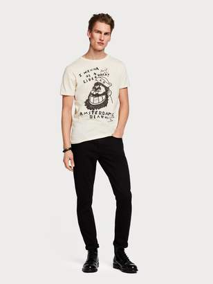 Scotch\U0020\U0026\U0020soda Illustrated T-Shirt Brutus