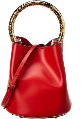 Marni Pannier Two-Tone Leather Bucket Bag
