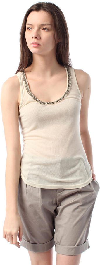 Lucca Couture Twisted Neck Ribbed Tank