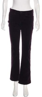 J Brand Mid-Rise Wide-Leg Corduroy Pants