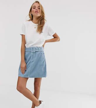 Urban Bliss baby cord mini skirt with self belt