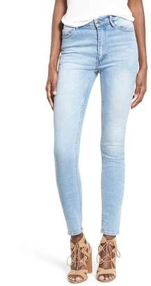 Cheap Monday Second Skin Skinny Jeans (Stonewash Blue)