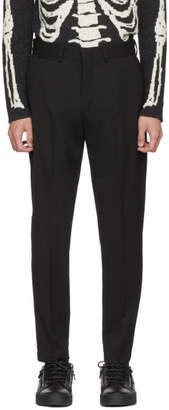 McQ Black Peg Leg Trousers