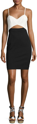 French Connection Lolo Colorblocked Stretch Sheath Dress