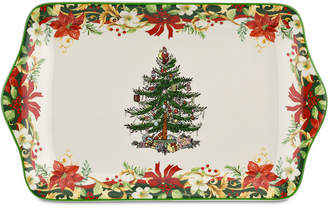 "Spode Christmas Tree Annual 12"" Dessert Tray"