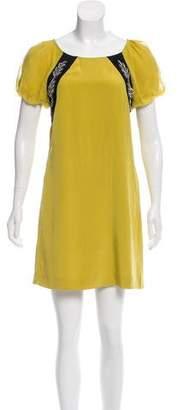 Tibi Embellished Silk Dress