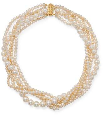 "Bloomingdale's Cultured Freshwater Pearl Torsade Necklace in 14K Yellow Gold, 17"" - 100% Exclusive"