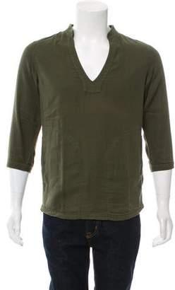 Paul & Joe Woven V-Neck Shirt