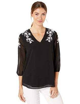 Calvin Klein Women's Clinch Sleeve with Embroidery