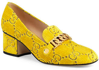 Gucci Sylvie 55mm GG Velvet Loafer