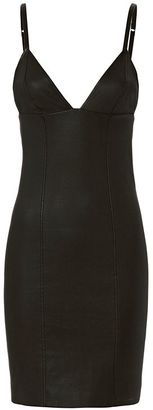T by Alexander Wang Leather Cami Dress $995 thestylecure.com