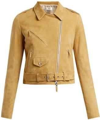 The Row Perlin suede biker jacket
