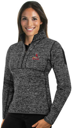Antigua Women's St. Louis Cardinals Fortune Midweight Pullover Sweater