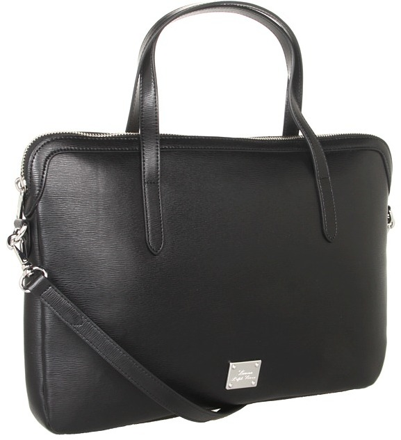 Lauren Ralph Lauren Newbury Slim Computer Case (Black) - Bags and Luggage