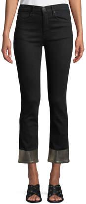 Rag & Bone Ankle Cigarette Jeans w/ Metallic Cuffs