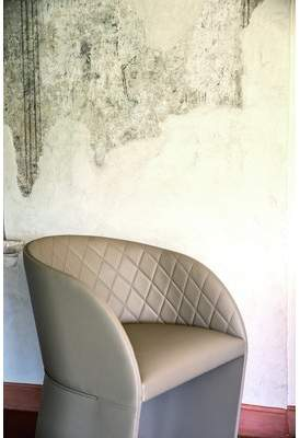 Hudson YumanMod Arm Chair in Eco-Leather Upholstered Dining Chair YumanMod