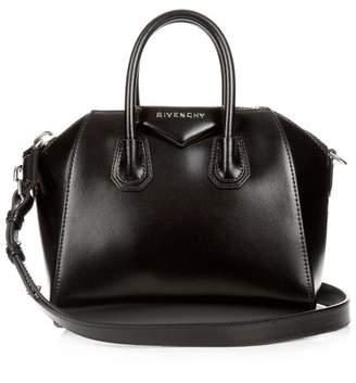 Givenchy Antigona Mini Leather Cross Body Bag - Womens - Black