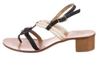 Hunter Leather Ankle Strap Sandals