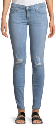 Hudson Krista Distressed Skinny Ankle Jeans, Light Wash
