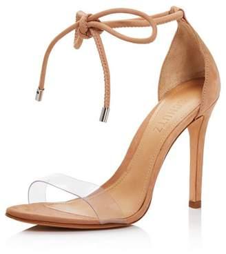 Schutz Women's Monique Clear Lace-Up High-Heel Sandals