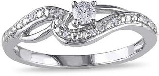 JCPenney MODERN BRIDE 1/7 CT. T.W. Diamond 10K White Gold Swirl Promise Ring