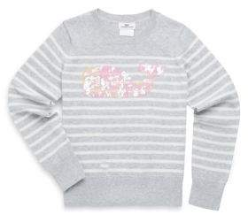 Vineyard Vines Toddler's, Little Girl's& Girl's Striped Cotton Sweater