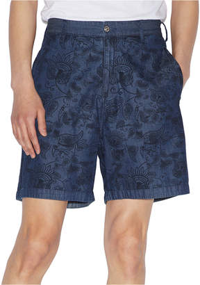 Armani Exchange Men Yarn Dyed Paisley Shorts