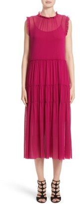 Women's Fuzzi Tiered Tulle Dress $495 thestylecure.com