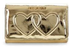 Love Moschino Metallic Flap Wallet
