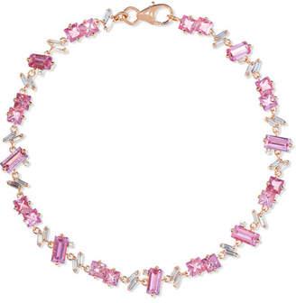 Suzanne Kalan 18-karat Rose Gold, Sapphire And Diamond Bracelet