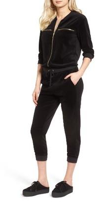 Women's Juicy Couture Velour Crop Track Jumpsuit $198 thestylecure.com