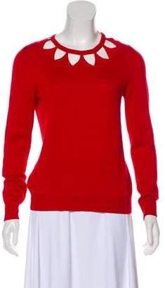 Altuzarra Long Sleeve Laser-Cut Sweater