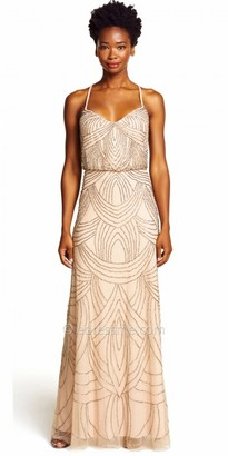Adrianna Papell Delicate Beaded Blouson Evening Dress $300 thestylecure.com