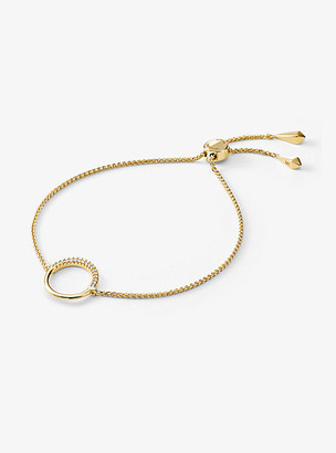 Michael Kors 14k Gold-Plated Sterling Silver Circle Slider Bracelet