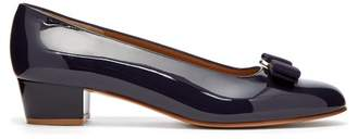 Salvatore Ferragamo Vara Patent Leather Pumps - Womens - Navy