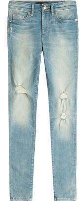 Juicy Couture Distressed Skinny Jeans $235 thestylecure.com