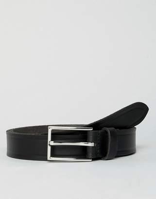 Esprit Slim Leather Smart Belt In Black