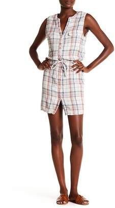 Joie Tawna Split Neck Plaid Dress