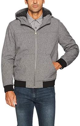 Levi's Men's Soft Shell Sherpa Lined Hooded Bomber Jacket