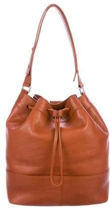 Shinola Pebbled Leather Drawstring Bag