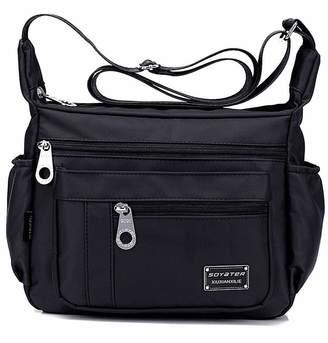 Kecartu Women`s Lightweight Water Resistant Nylon Crossbody Shoulder Bag Size Purse