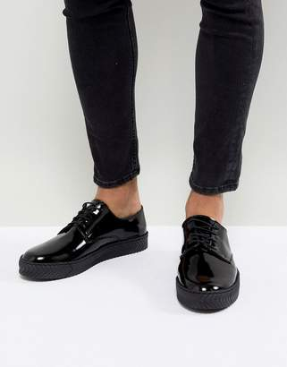 Asos Design Lace Up Derby Shoes With Chevron Sole