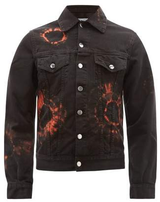 Aries Tie Dye Denim Jacket - Mens - Black Orange
