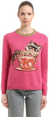 Gucci Embellished Intarsia Crewneck Sweater