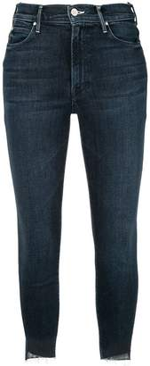 Mother frayed cropped jeans